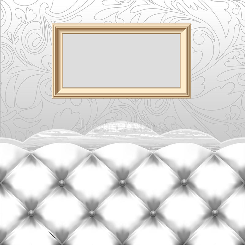 Download Empty frame with couch stock vector. Image of decorative - 27655985