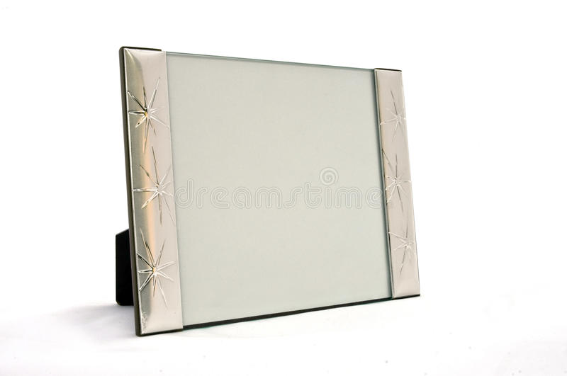 Empty Frame In Silver Stock Images