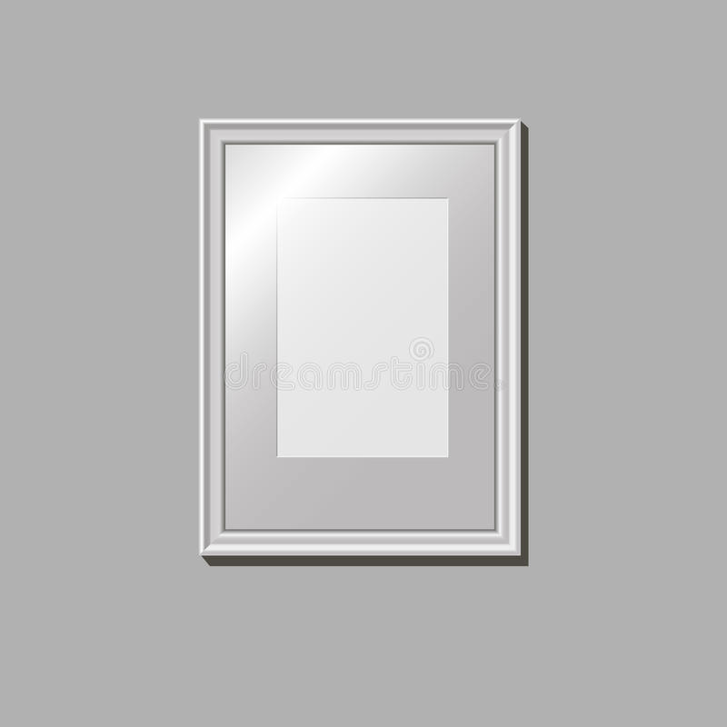 Empty frame on the wal stock photography