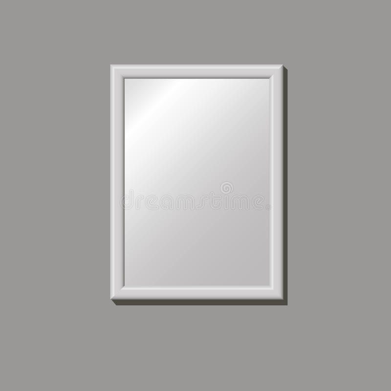 Empty frame on the wall stock images