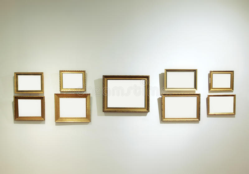 download empty frames on a gallery wall stock image image 27189761 - Empty Frames On Wall
