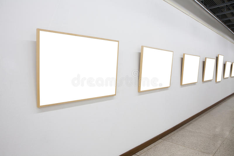 Download Empty frames in museum stock photo. Image of illuminated - 27795012