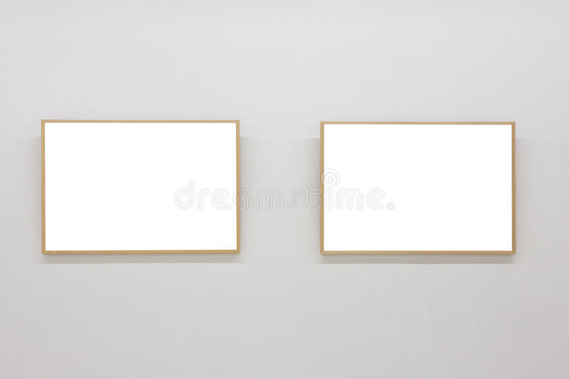 Download Empty frames in museum stock photo. Image of copyspace - 27795924