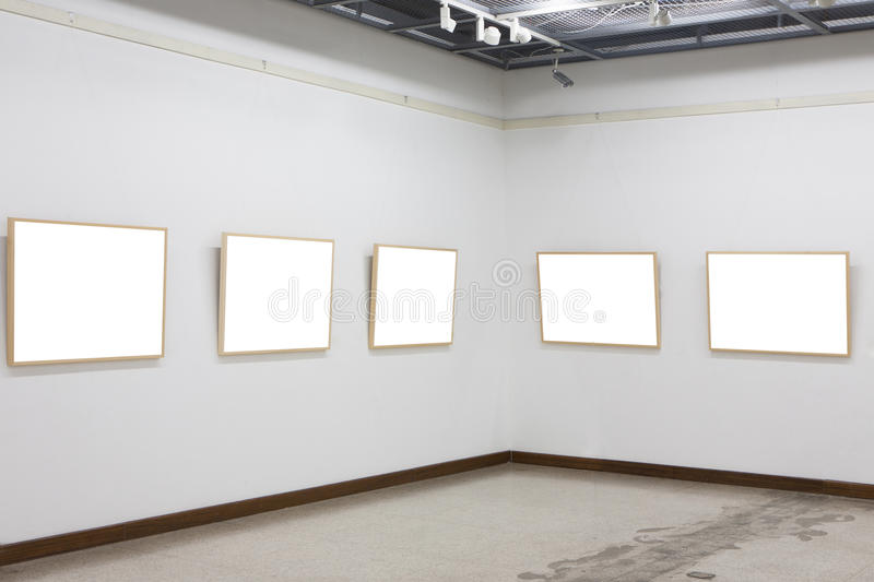 Download Empty frames in museum stock image. Image of culture - 27795991