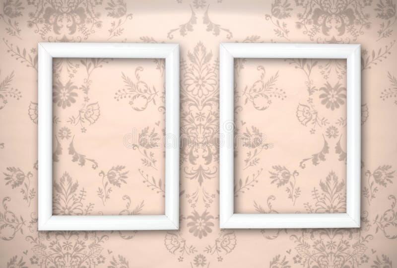 Download Empty Frames On The Vintage Background Stock Illustration - Illustration: 24707644