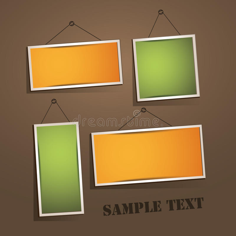Download Empty frames on the wall stock vector. Image of illustration - 24802264