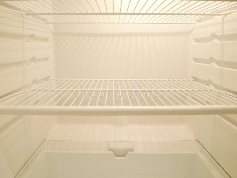 Empty fridge stock image