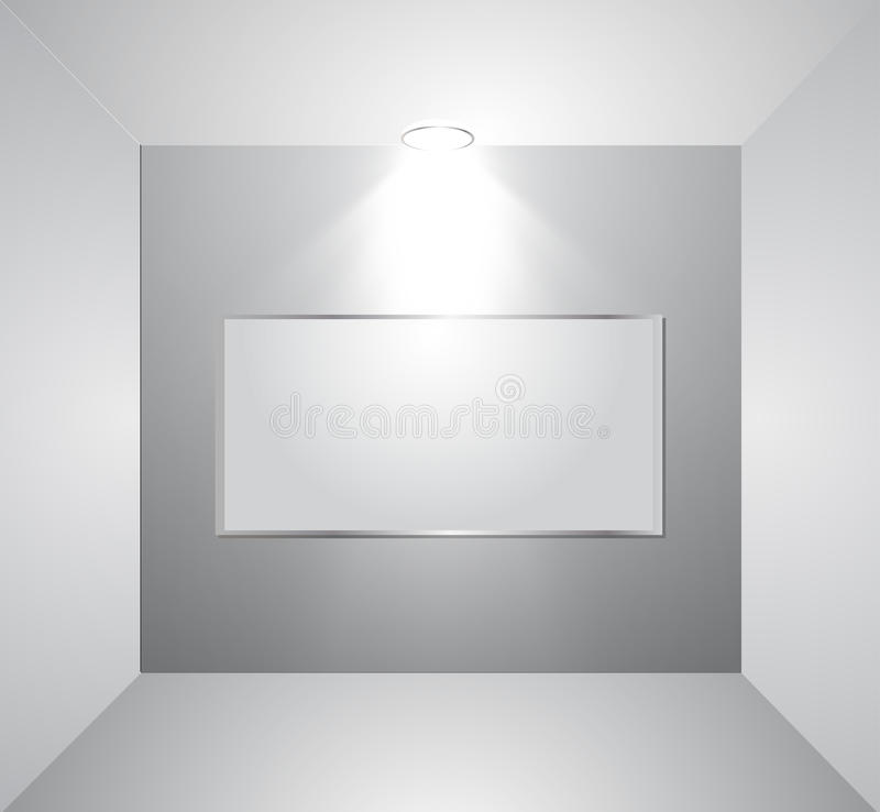 Wall Lamps Vector : Empty Gallery Wall With Light. Vector Stock Photos - Image: 29848533