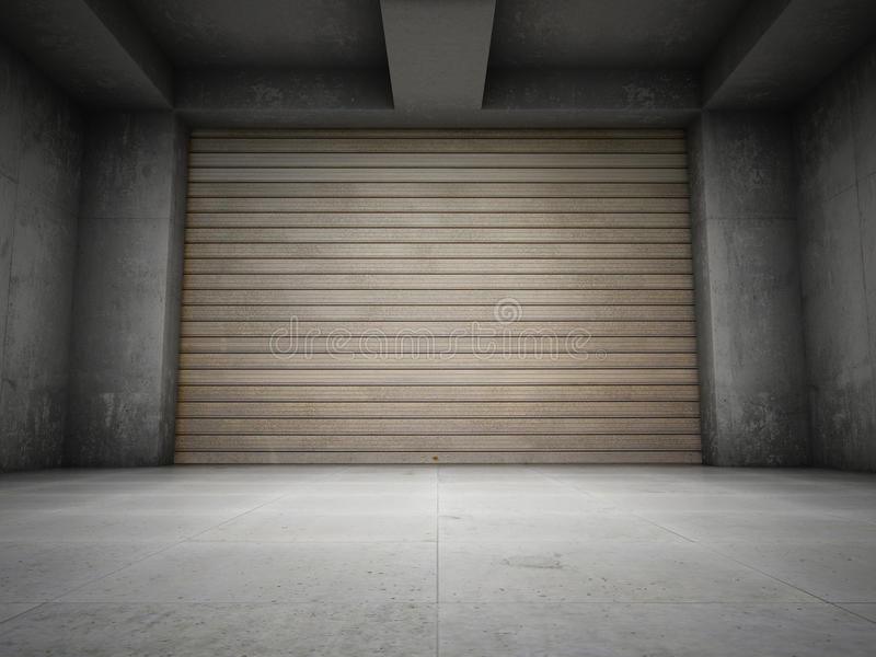 Empty Garage Stock Illustration Illustration Of Door
