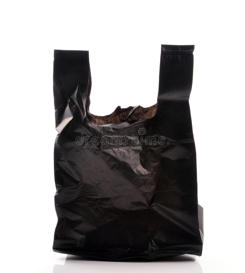 Empty garbage bag royalty free stock photography
