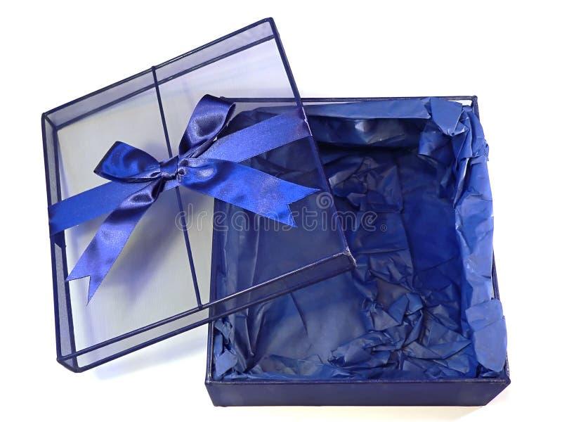 Empty gift box stock photography