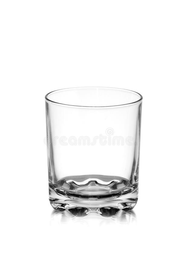 Empty glass. Isolated on a white background stock image