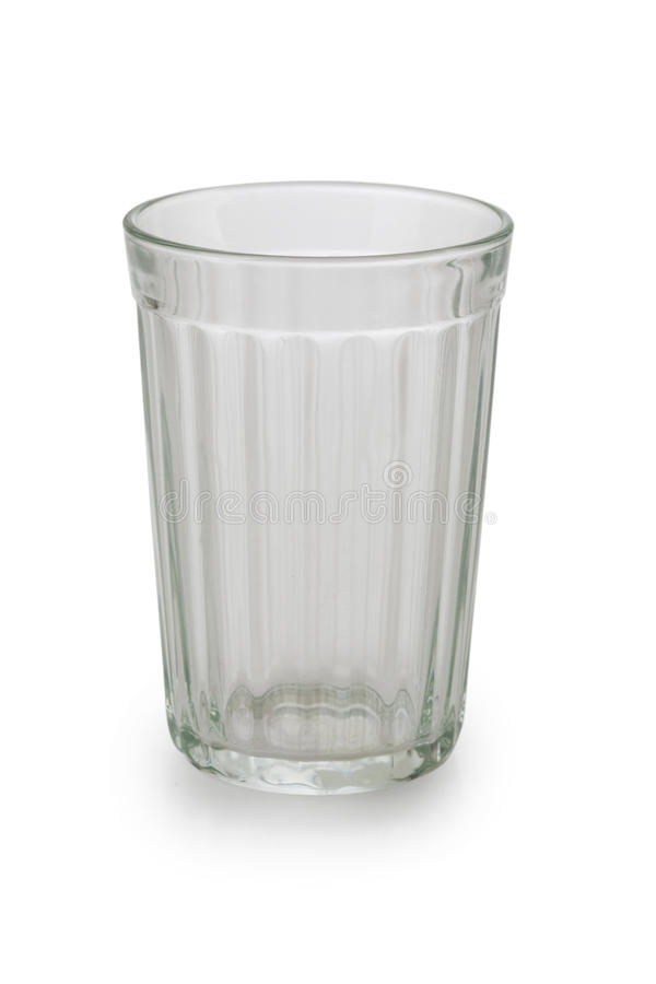 Empty glass. Isolated on white background royalty free stock photography