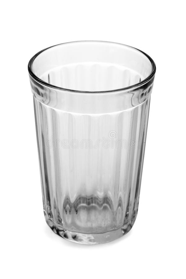 Empty glass. Isolated on white background stock photo