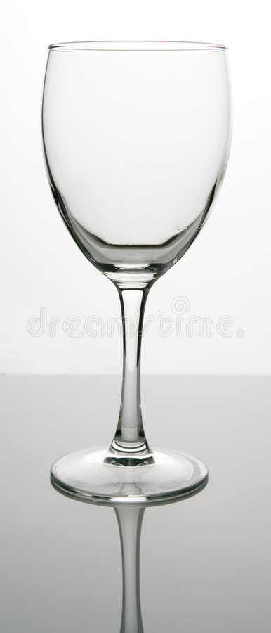 Empty glass royalty free stock photo