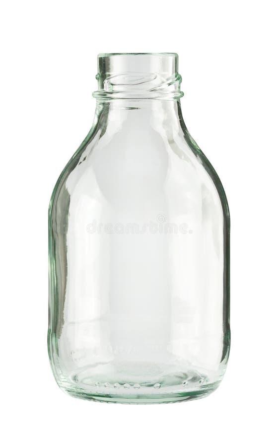 Empty glass bottle stock image