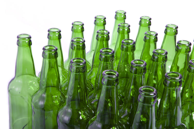 Empty Glass Bottles L Stock Images