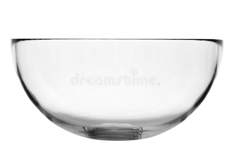Empty glass bowl royalty free stock photography