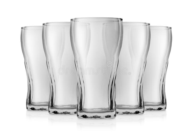 Empty glass for cola stock photo