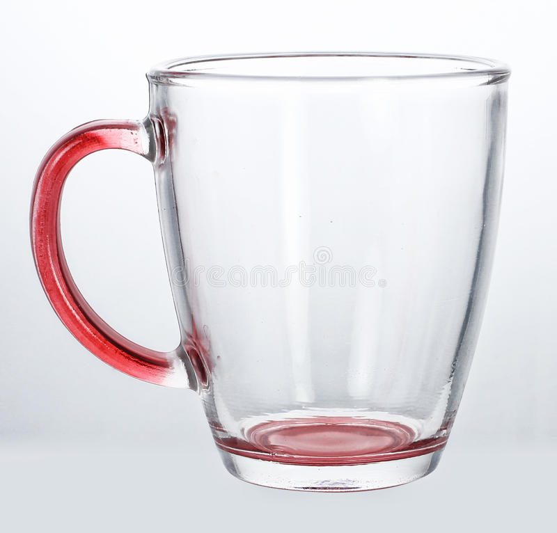 Empty glass cup. On white background stock photos