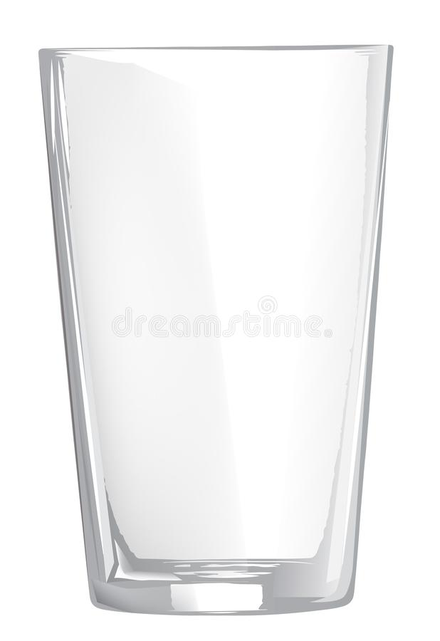 Empty glass Cup, glass wine glass on transparent background, royalty free stock photo