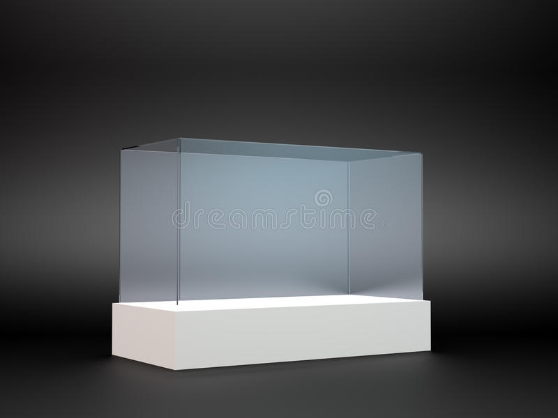 An Empty Glass Display Royalty Free Stock Photo