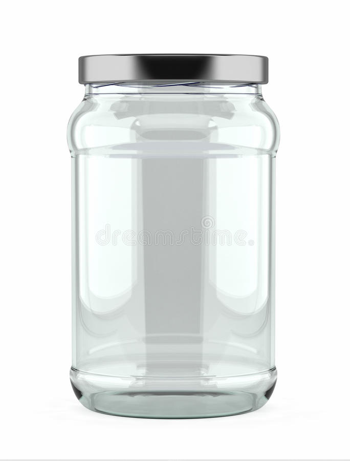 Download Empty Glass Jar stock image. Image of cover, clear, preservation - 21364927