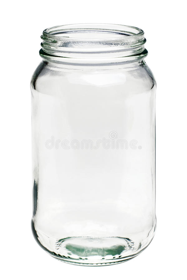 Download Empty Glass Jar Isolated On A White Background Stock Image - Image: 15253419