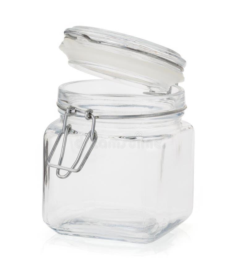 Empty glass jar royalty free stock photos