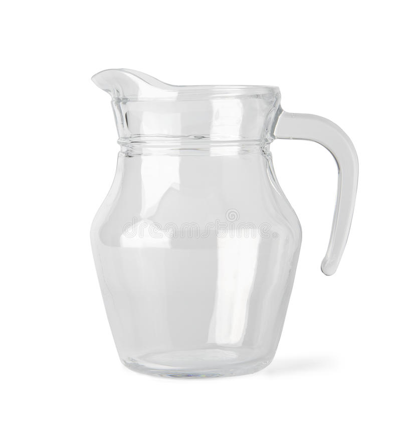 Empty glass jug with clipping path royalty free stock image