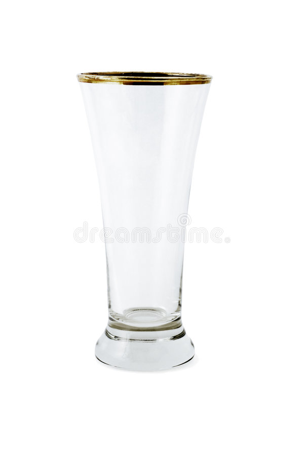 Empty glass mug royalty free stock photography