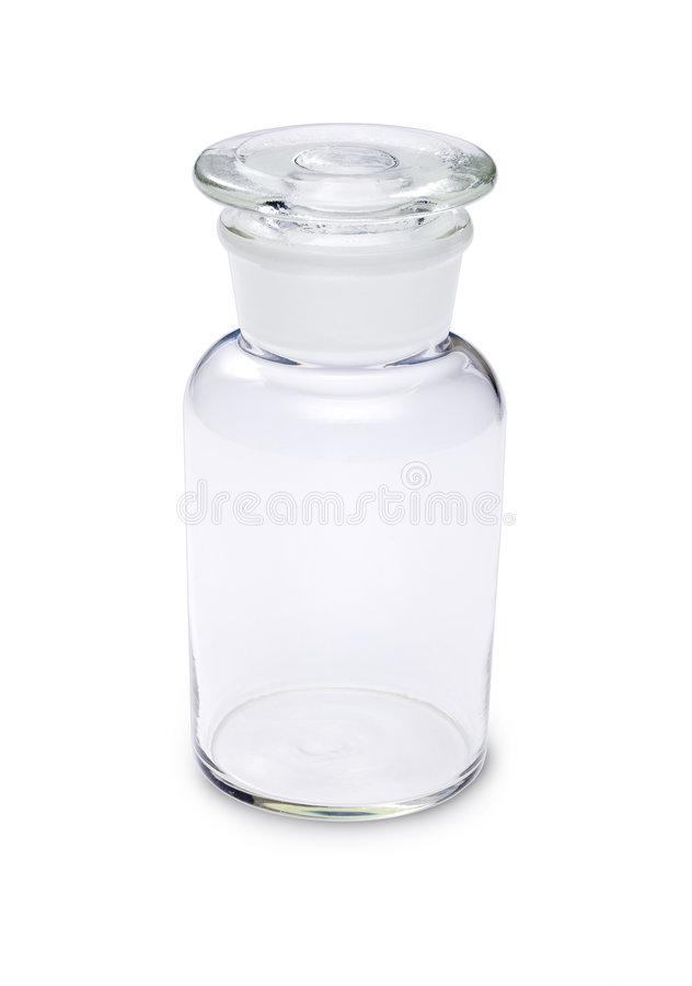 Empty Glass Pharmacy Bottle stock photos