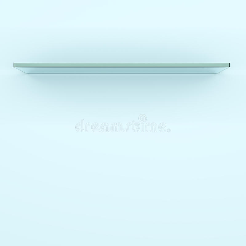 Empty glass shelf royalty free illustration