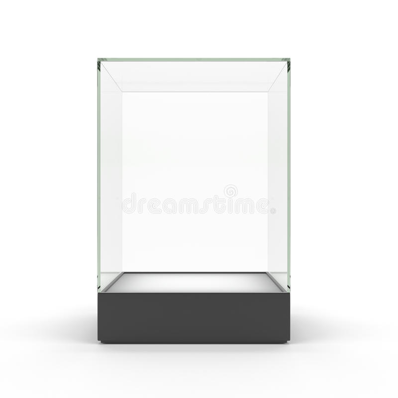 Free Empty Glass Showcase For Exhibit Isolated Royalty Free Stock Photo - 27358755