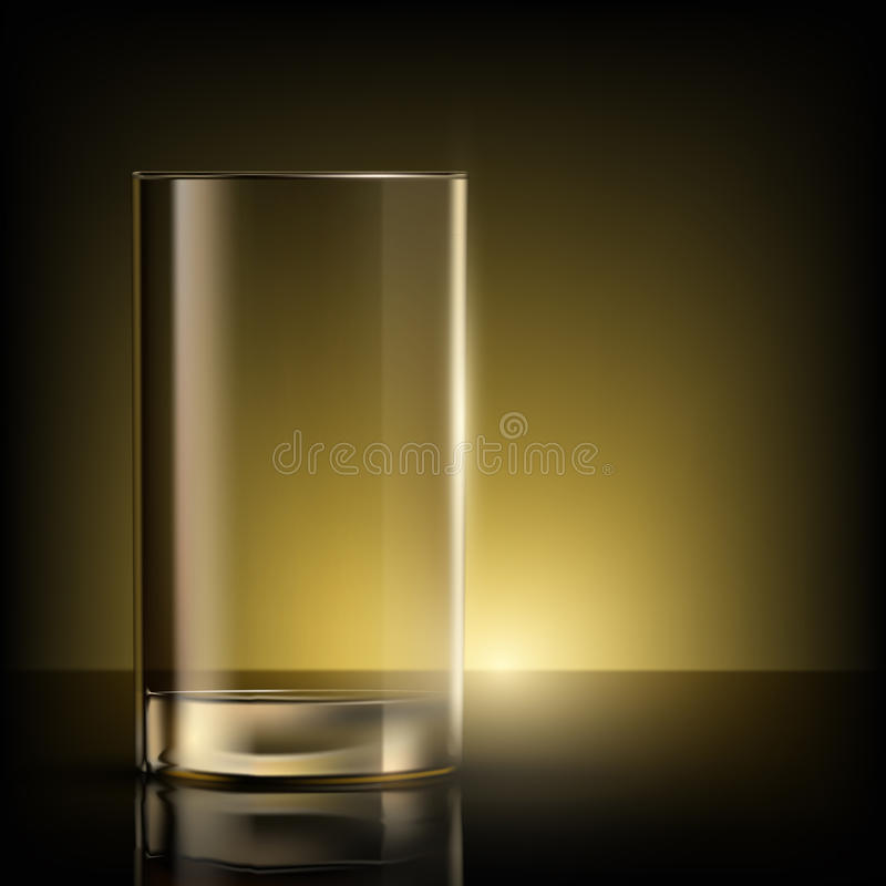 Empty glass on the table vector illustration