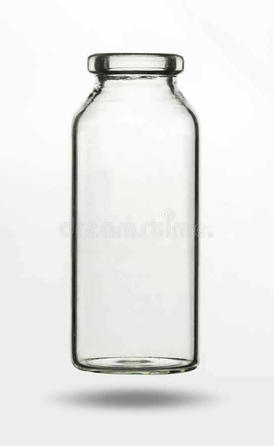 Empty glass vial for chemical or medical substance royalty free stock images
