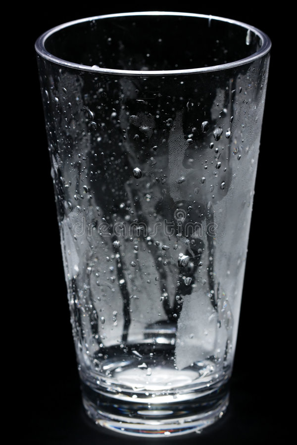 Empty glass of water