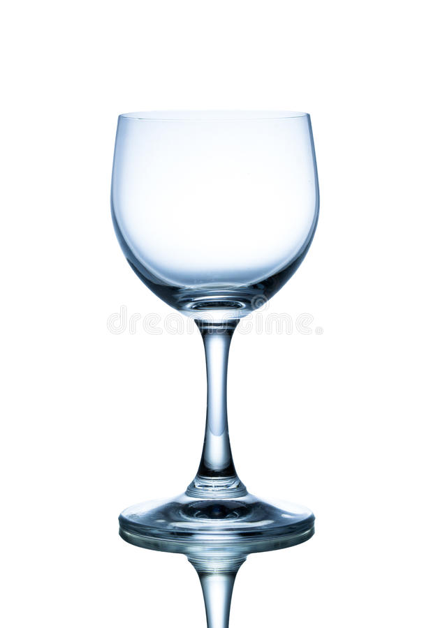 Empty glass. With white background stock images