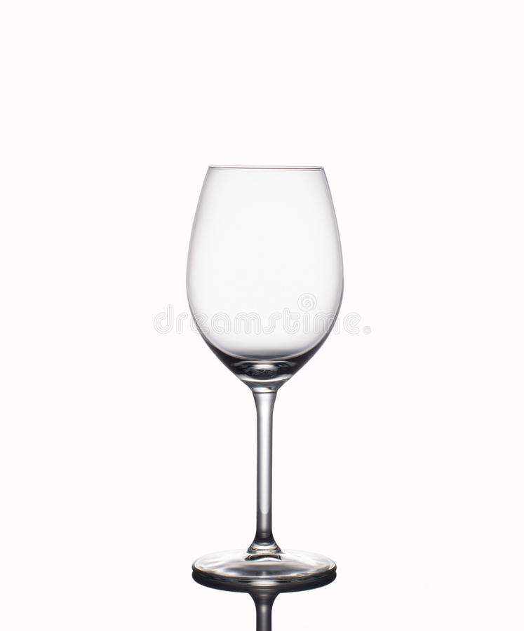 An empty glass on a white background isolate royalty free stock images