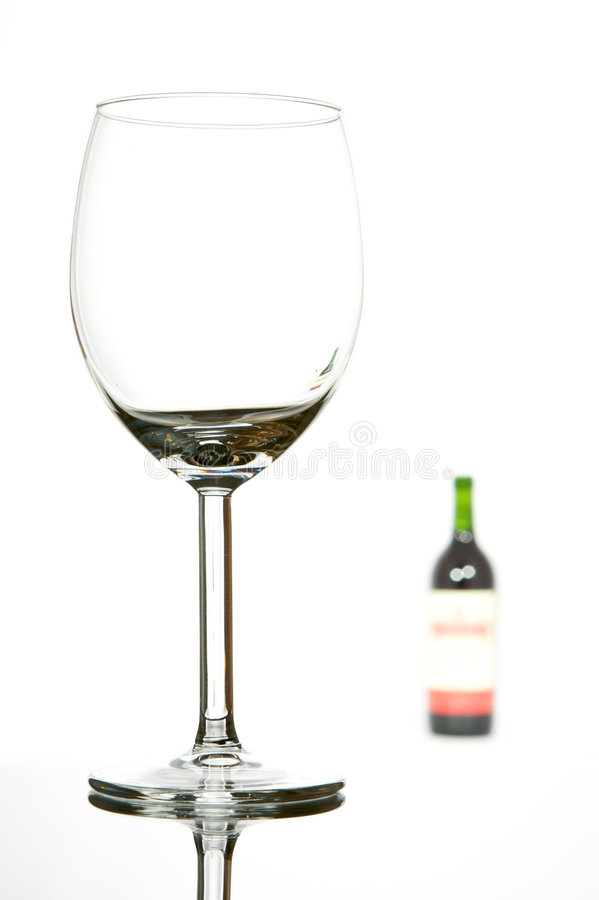 Download Empty Glass And Wine Bottle Stock Image - Image: 7208625