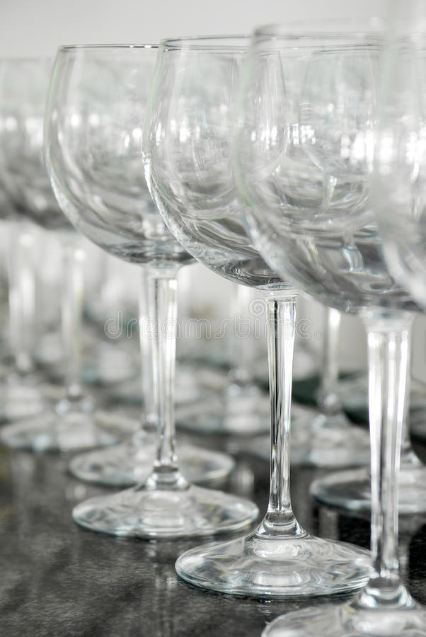 Download Empty Glasses stock image. Image of group, pattern, industry - 14083257