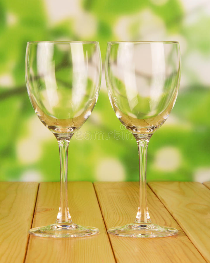 Download Empty Glasses stock photo. Image of thirst, wooden, background - 42782736