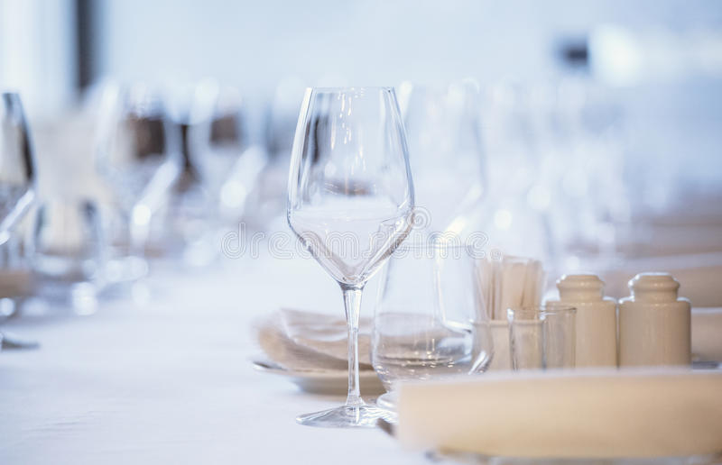 glasses table setting. Download Empty Glasses In Restaurant. Cutlery On The Table A Restaurant Setting, Setting D