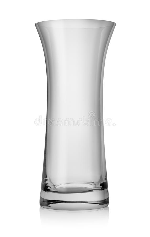 Empty goblet. Empty beer glass on white background royalty free stock image