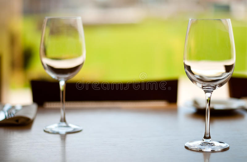 Download Empty goblets on table stock image. Image of beverage - 14479173