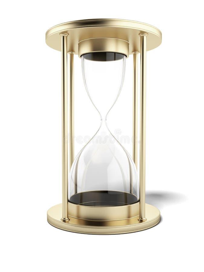 Empty gold hourglass vector illustration
