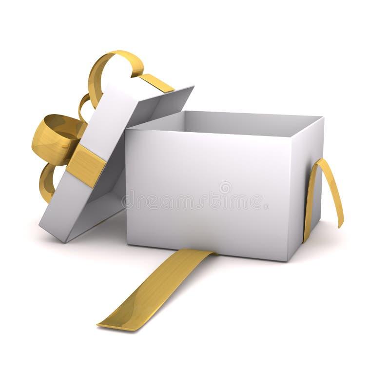 Free Empty Golden Gift Carton Royalty Free Stock Photo - 28402945