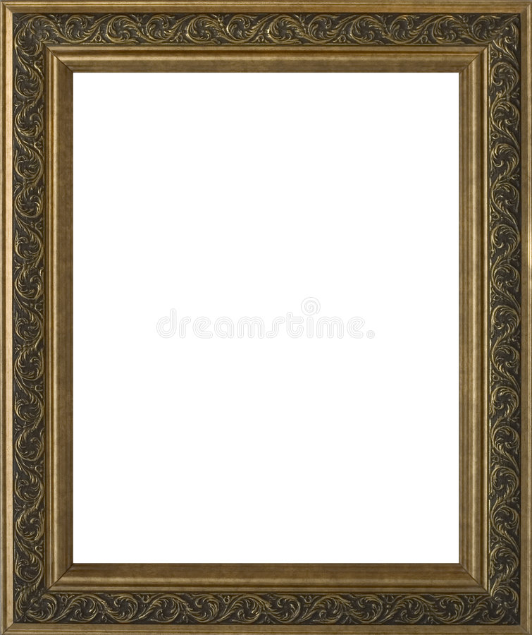 Free Empty Golden Ornate Frame Stock Photography - 249962