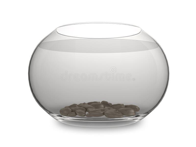 Empty goldfish bowl. Realistic illustration of an empty goldfish bowl, isolated on a white background vector illustration