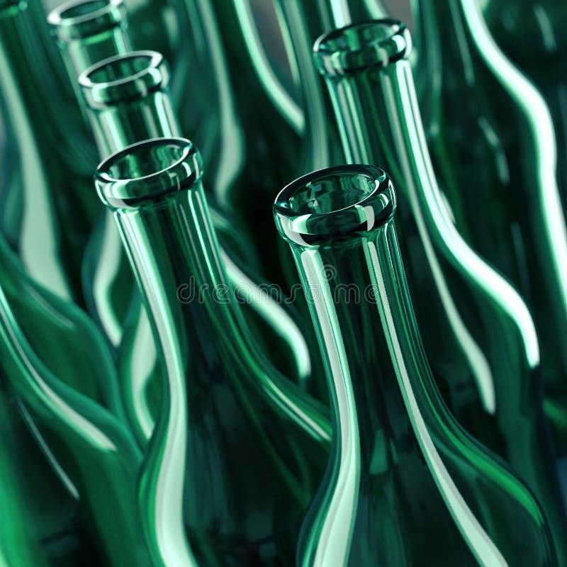 Empty glass bottles stock images